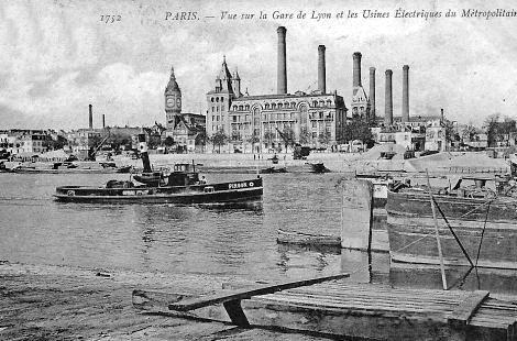edifices disparus l 39 usine d 39 lectricit du quai de la rap e le quartier bel air sud. Black Bedroom Furniture Sets. Home Design Ideas